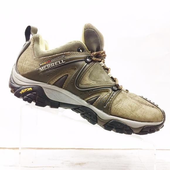 db595979ed4c Merrell Mens 10 Reactor Leather Hiking Trail Shoes.  M 5c7f630a04e33d86302492cd